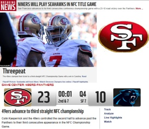 Niners advance to NFC title